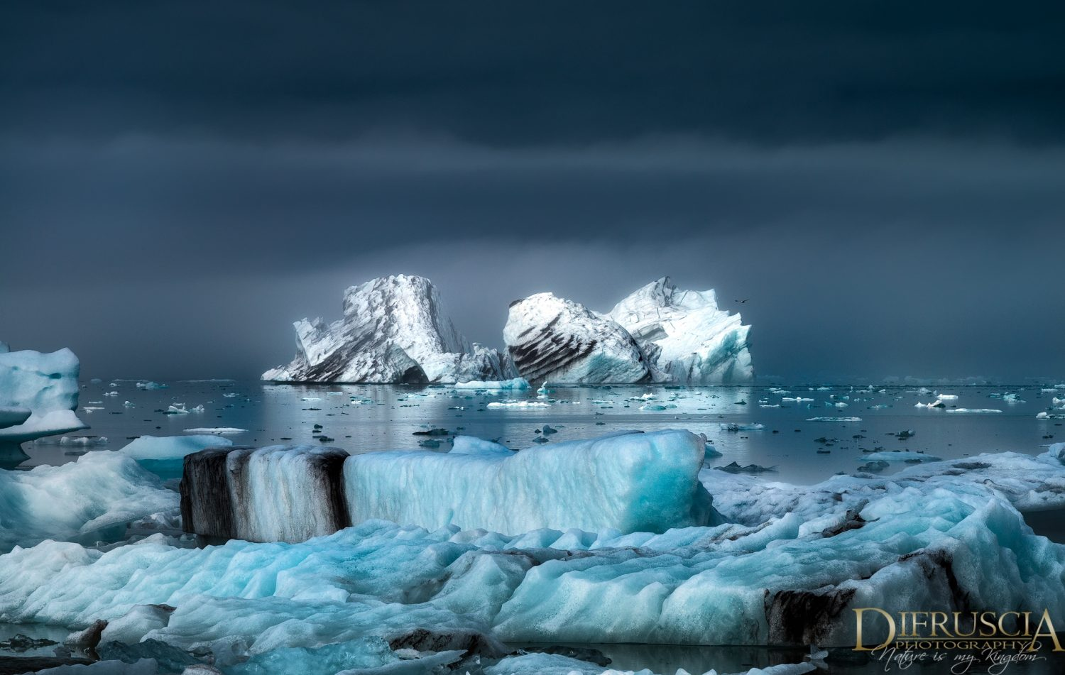 Iceland, Fine art photography, Nature photography, Limited edition prints, unique edition prints, iceberg, blue, clouds, ice, water images, Jökulsárlón