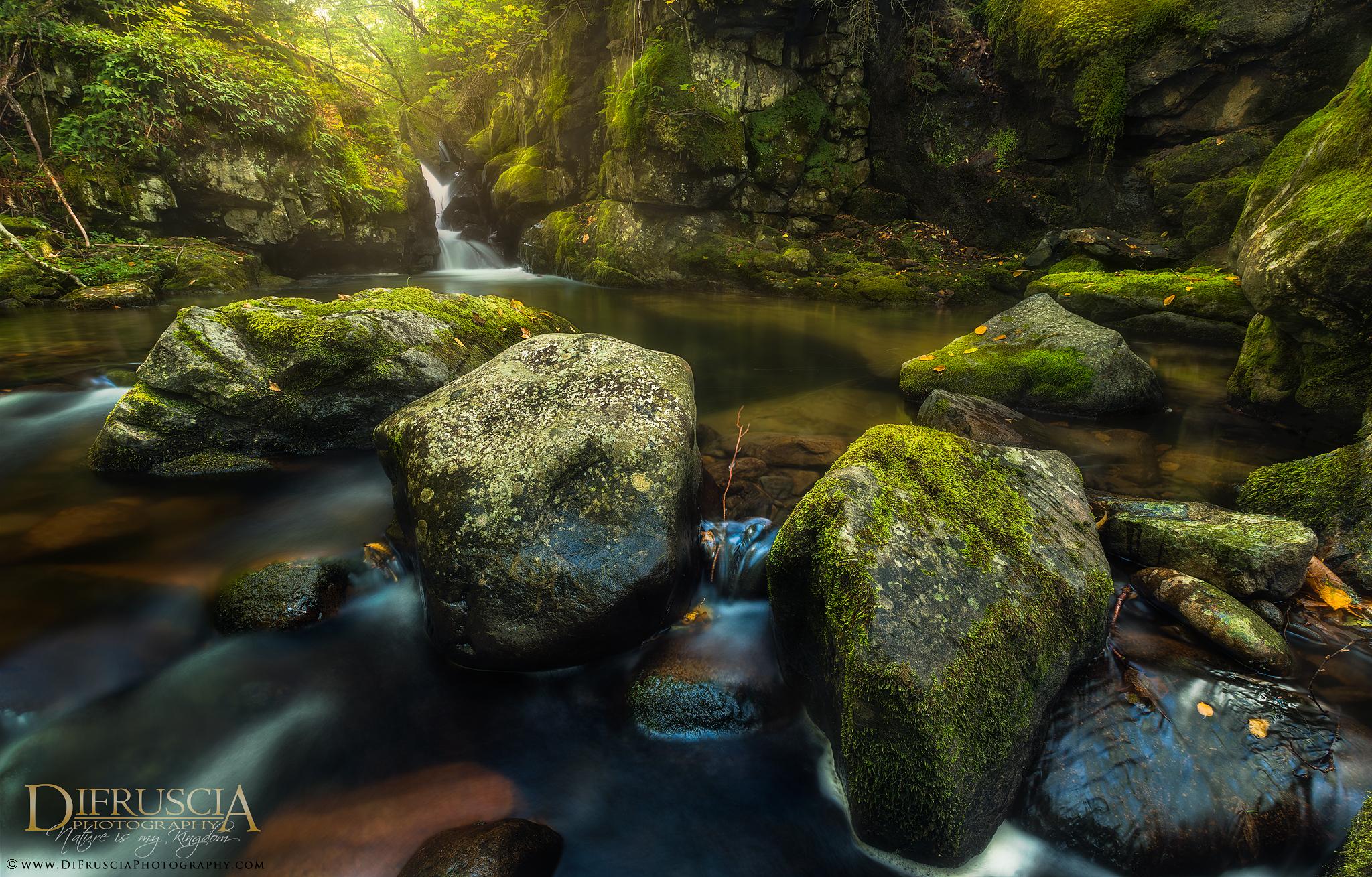 Mt-Megantic, Quebec, National Park, Fall, Waterfall, Fine Art Photography, SEPAQ, Nature, Moss, FIne Art print, Limited edition prints, Green, Landscape Photographer, Photography tours